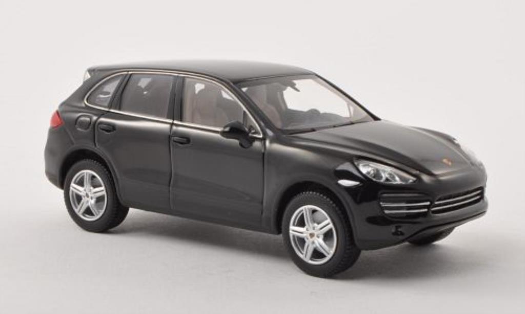 Porsche Cayenne 1/43 Minichamps Platinum Edition (92A) noire miniature