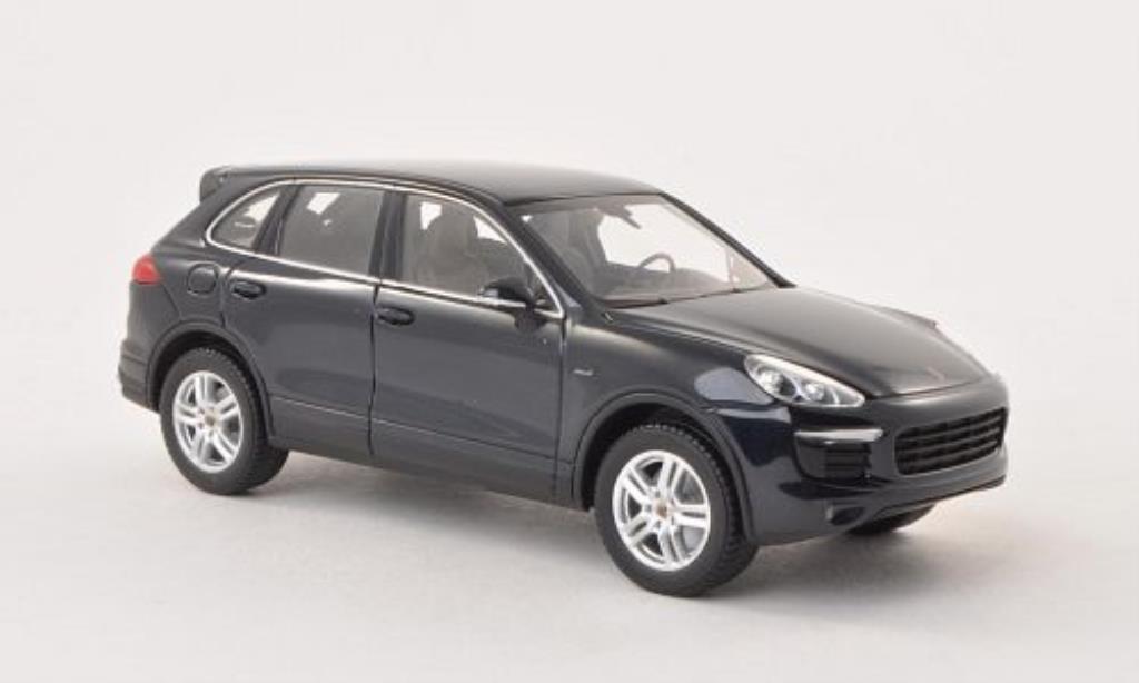 Porsche Cayenne S 1/43 Minichamps Diesel (92A) bleu 2014 miniature
