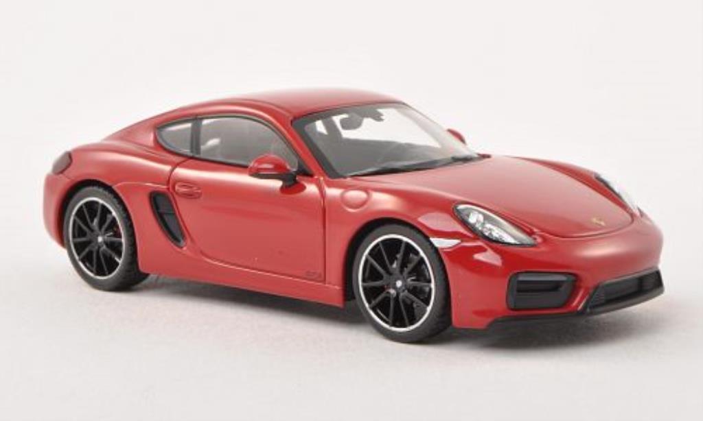 Porsche Cayman 1/43 Minichamps GTS (981c) rouge miniature