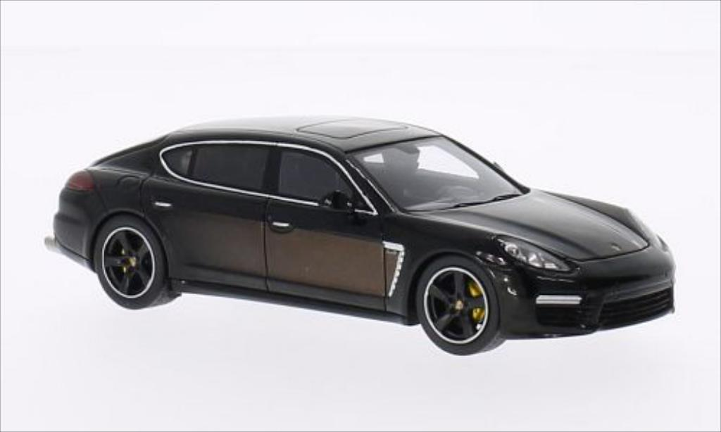 Porsche Panamera 1/43 Spark Exclusive Series noire/marron 2014 miniature