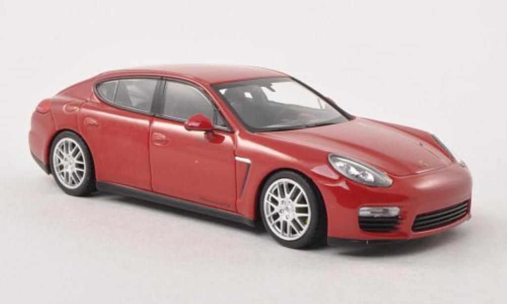 Porsche Panamera 1/43 Minichamps GTS rouge Facelift 2013 miniature