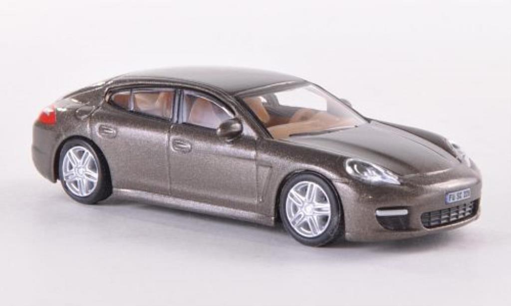 Porsche Panamera 1/87 Schuco marron miniatura