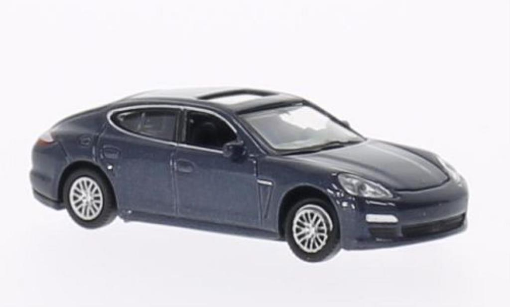 Porsche Panamera 1/87 Welly S bleu miniature