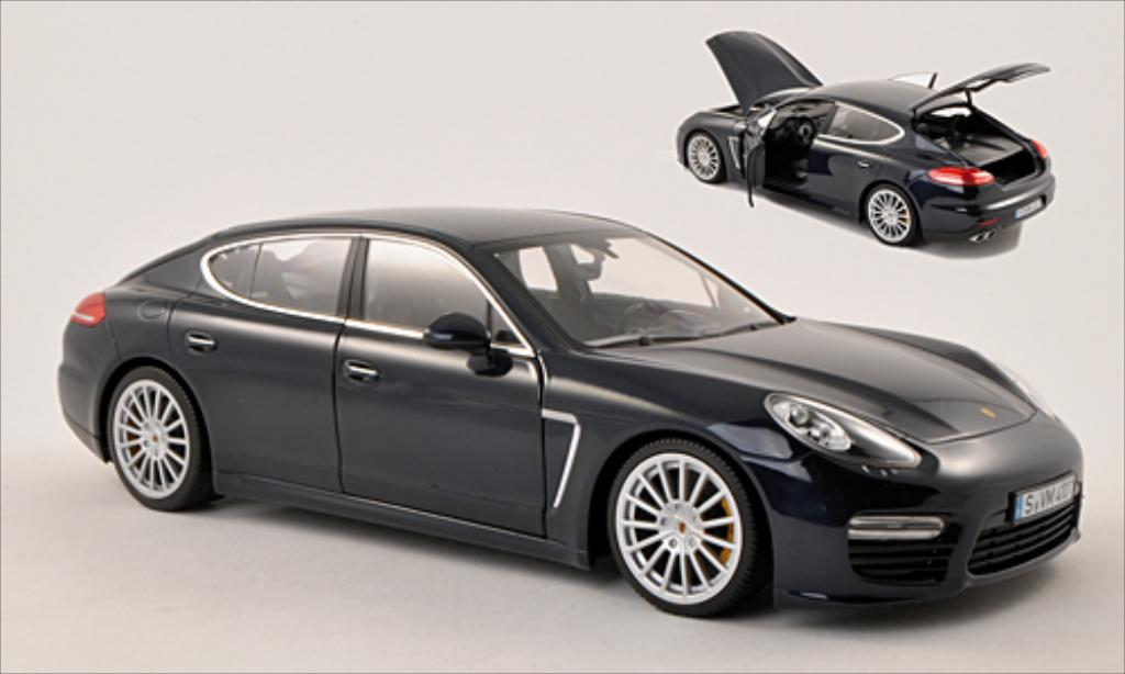 Porsche Panamera Turbo S 1/18 Minichamps metallise bleu diecast model cars