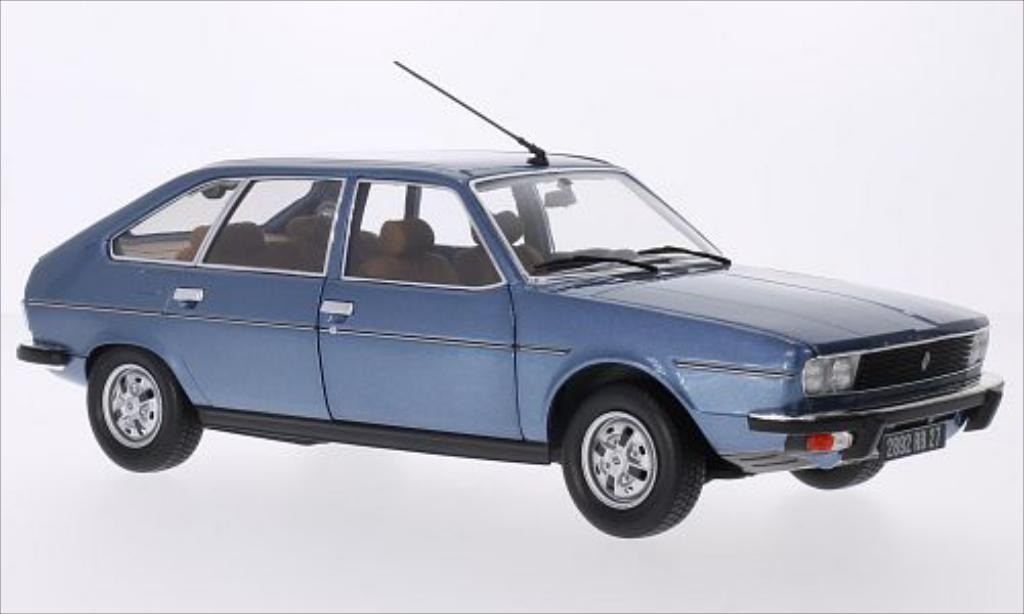 Renault 30 1/18 Norev TS metallic-bleu 1978 miniatura