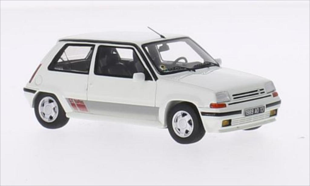 Renault 5 1/43 Spark GT Turbo blanche 1988 miniature