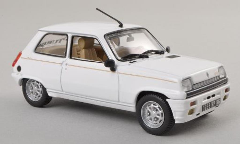 Renault 5 1/43 Norev Laureate Turbo white 198 diecast model cars