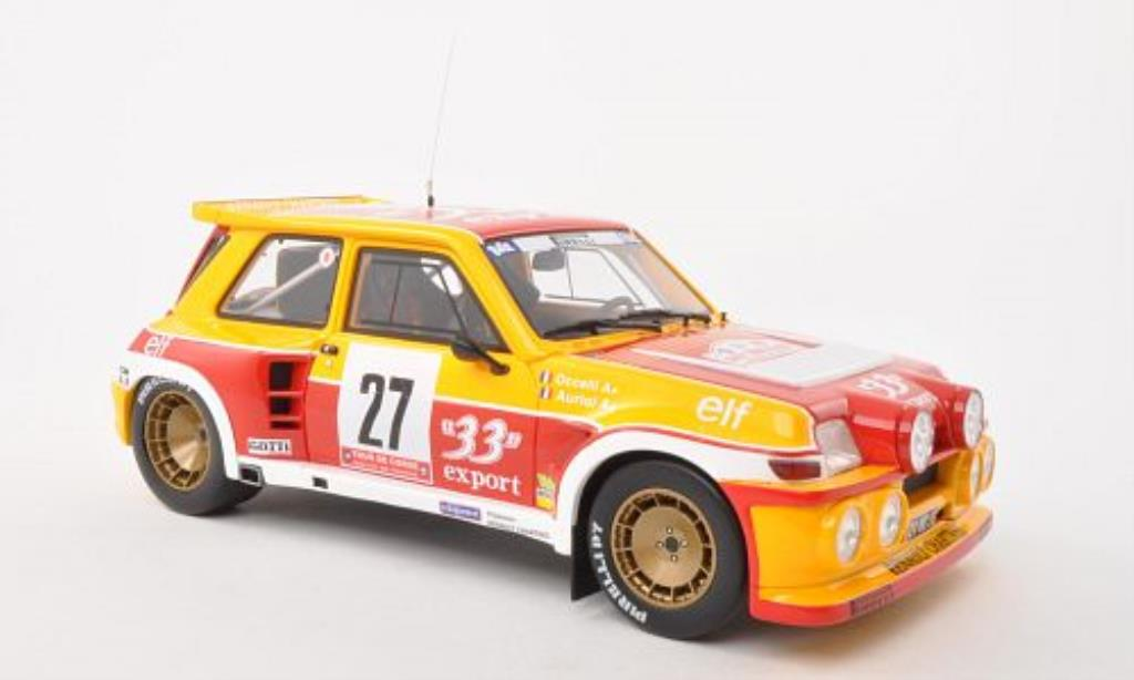 Renault 5 1/18 Ottomobile Maxi Turbo No.27 Export 33 Tour de Corse 198 /B.Occelli diecast model cars