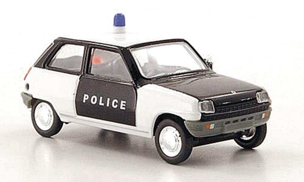 Renault 5 1/87 Herpa Police (F) noire/blanche miniature