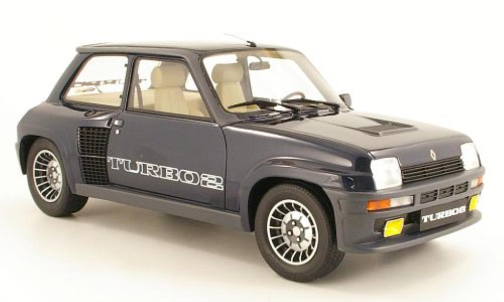 Renault 5 Turbo 1/12 Ottomobile 2 bleu 1983 miniatura