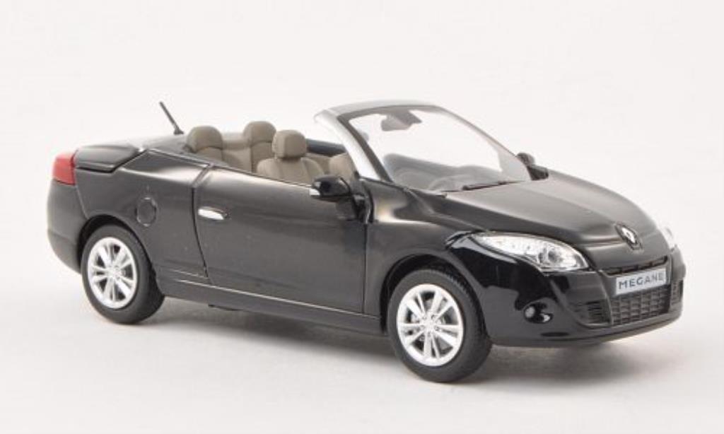Renault Megane 1/43 Norev Coupe Cabriolet noire 2009 miniature