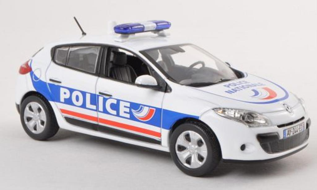 Renault Megane 1/43 Norev Police Nationale Polizei (F) 2010 miniature