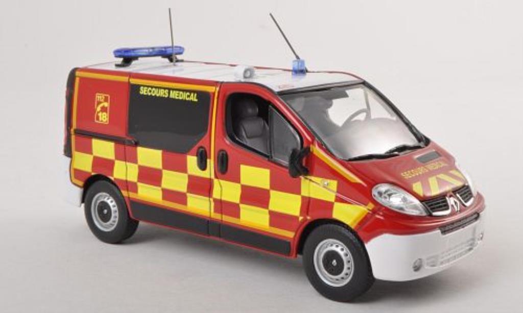 Renault Trafic 1/43 Norev Pompiers Secours Medical KTW (F) 2010 diecast model cars