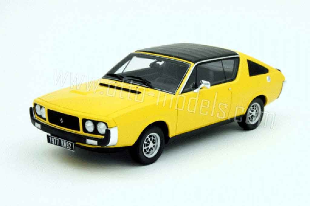 Renault 17 1/18 Ottomobile gordini yellow 1977 diecast model cars