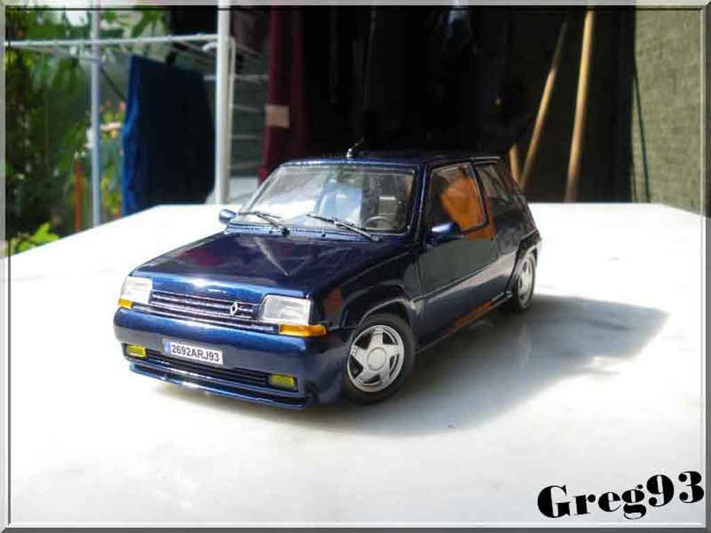 Renault 5 GT Turbo 1/18 Norev bleu lagon phase 2 miniature