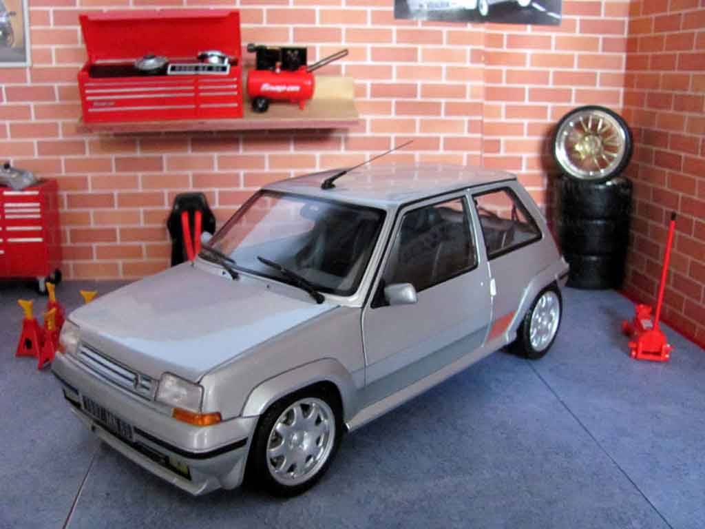 Renault 5 1/18 Norev GT Turbo phase 2 grise jantes speedline miniature