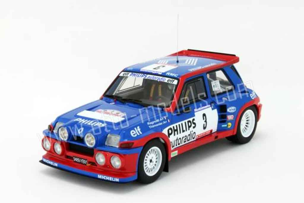 Renault 5 Turbo 1/18 Ottomobile maxi philips 1985 miniatura