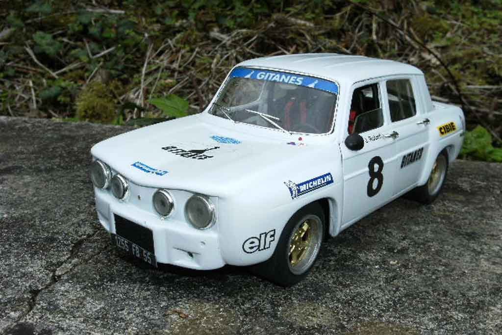Renault 8 Gordini 1/18 Solido white jantes larges et kit carrosserie dinacar diecast model cars