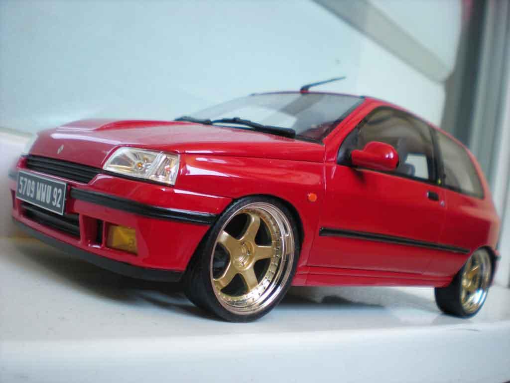 Renault Clio 16S 1/18 Ottomobile 1991 rouge jantes 17 pouces miniature