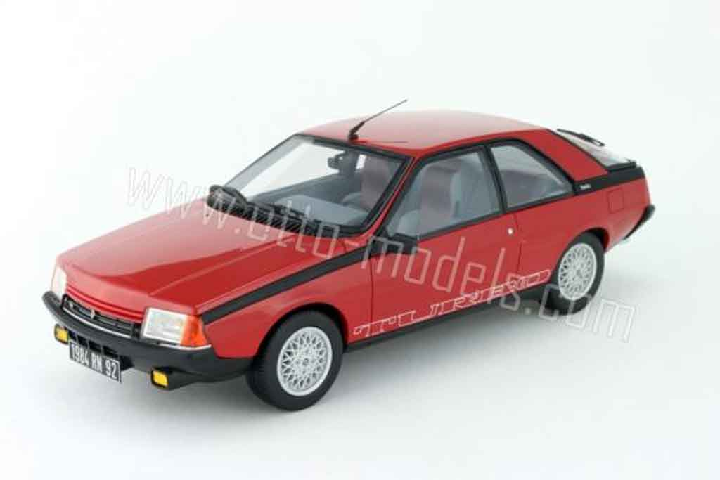 Renault Fuego 1/18 Ottomobile turbo phase 2 1983 rouge miniature