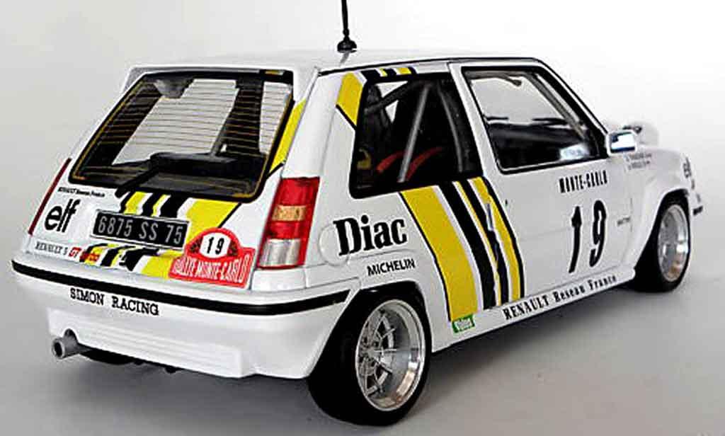 Renault 5 GT Turbo 1/18 Norev rallye jantes 13 alu modellautos