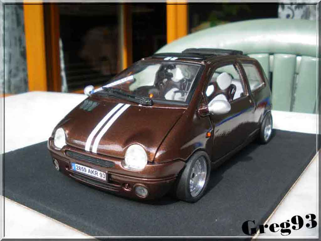 Renault Twingo 1/18 Anson chocolate jantes ronal diecast model cars