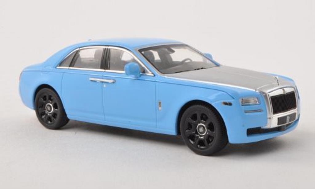 Rolls Royce Ghost 1/43 IXO bleu/grise LHD miniature