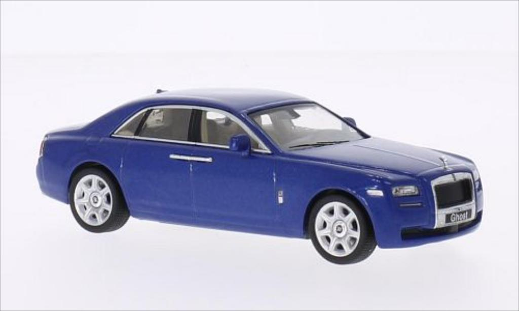 Rolls Royce Ghost 1/43 WhiteBox metallise bleu 2009 miniature