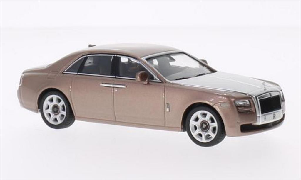 Rolls Royce Ghost 1/43 IXO metallise marron/grise 2010 miniature