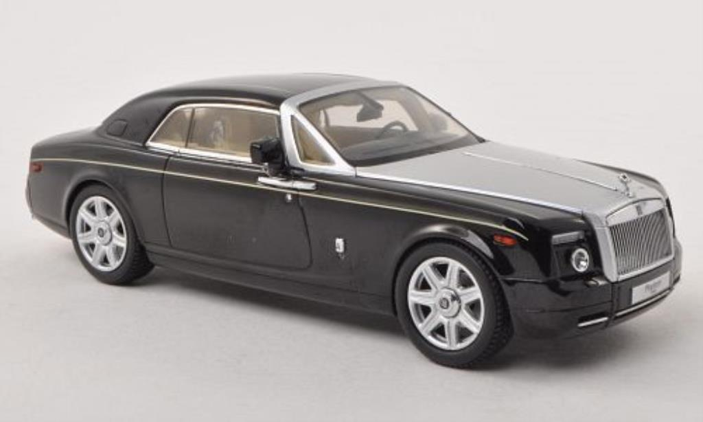 Rolls Royce Phantom 1/43 Kyosho Coupe noire/grise LHD miniature
