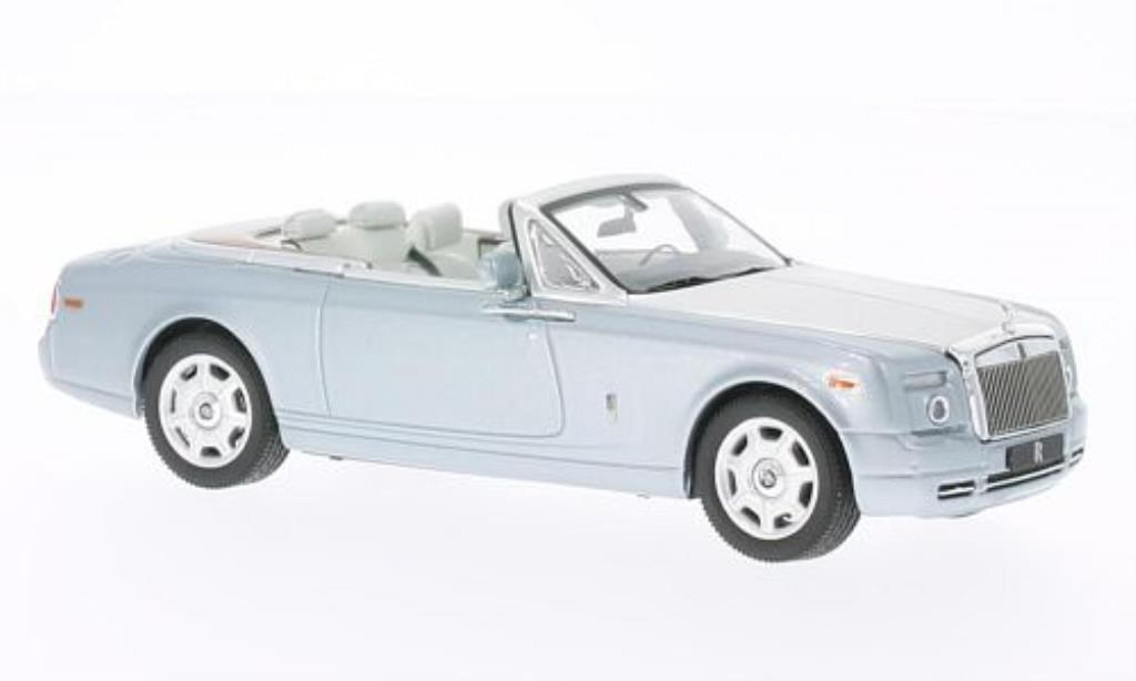 Rolls Royce Phantom 1/43 IXO Drophead Coupe bleu/grise 2009 miniature
