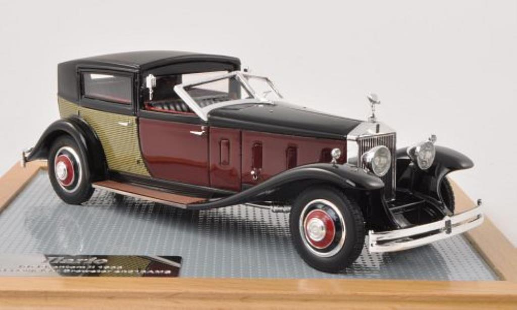 Rolls Royce Phantom 1/43 ILario II Special Town Car Brewster noire/rouge/beige 1933 miniature