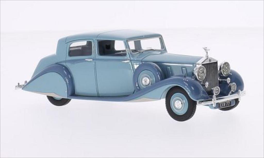 Rolls Royce Phantom 1/43 Ilario III Sedanca De Ville Hooper bleu/grise RHD 1938 miniature