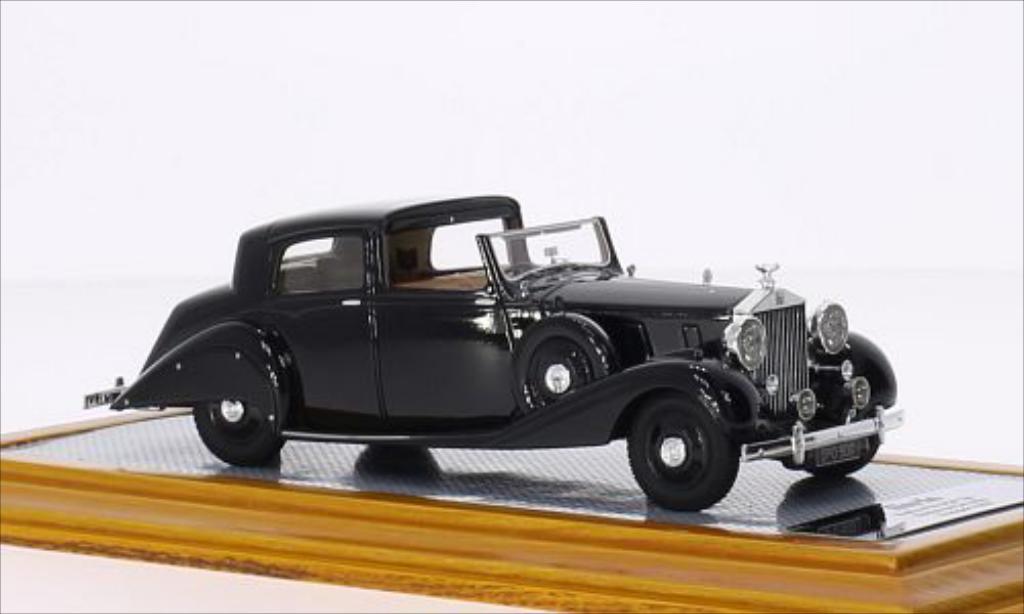 Rolls Royce Phantom 1/43 Ilario III Sedanca De Ville Hooper noire RHD 1937 miniature