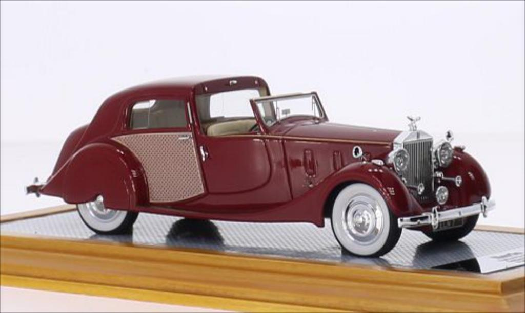 Rolls Royce Phantom 1/43 Ilario III Sedanca de Ville Park Ward rouge/Dekor RHD 1937 miniature