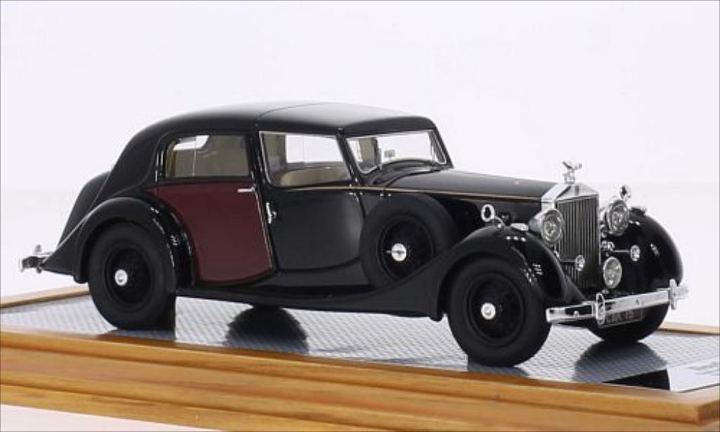 Rolls Royce Phantom 1/43 Ilario III Sedanca de Ville Park Ward noire/rouge RHD 1937 miniature