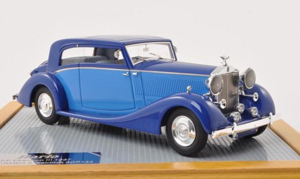 Rolls Royce Phantom 1/43 ILario III Vesters & Neirinck Coupe bleu/bleu 1937 miniature