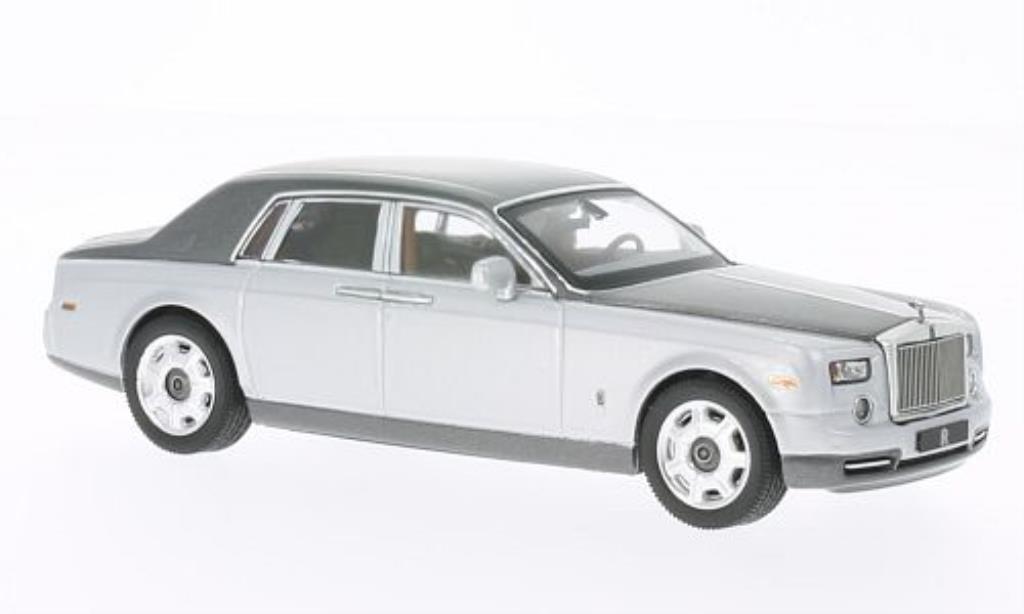 Rolls Royce Phantom 1/43 IXO grise/grise 2010 miniature