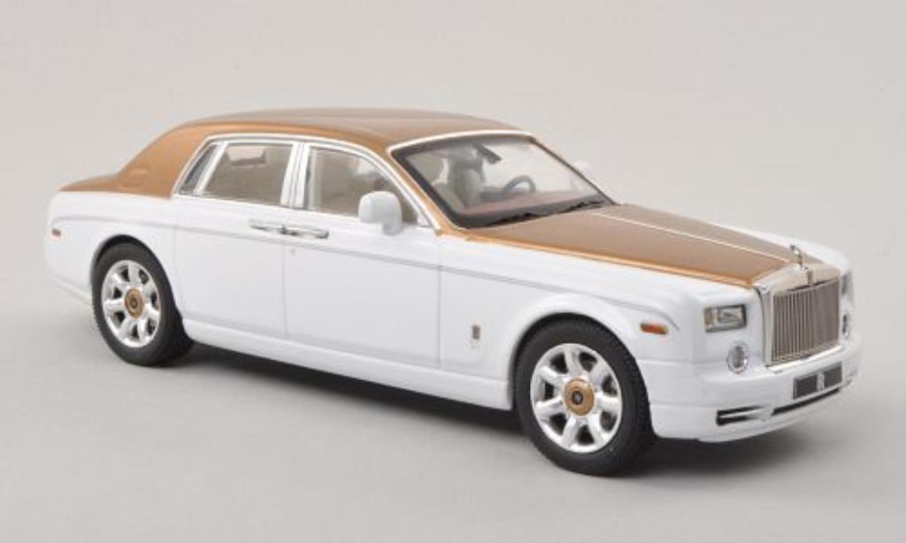 Rolls Royce Phantom 1/43 IXO blanche/gold LHD 2010 miniature