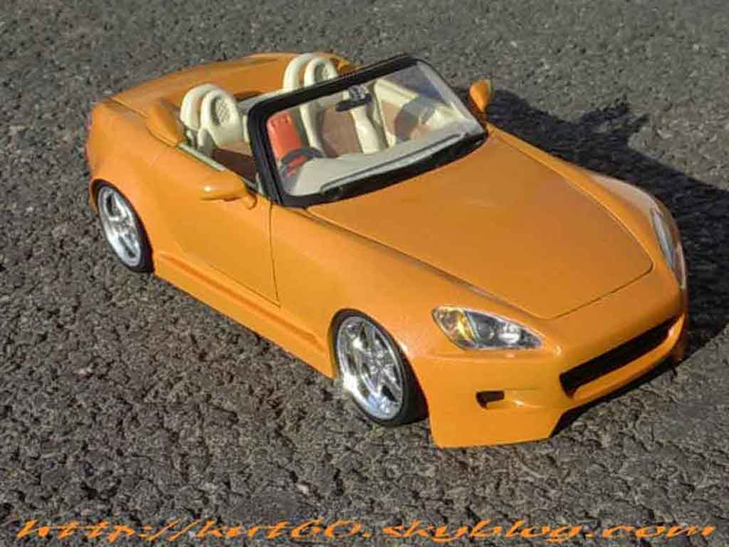 Honda S2000 1/18 Maisto orange tuning miniature