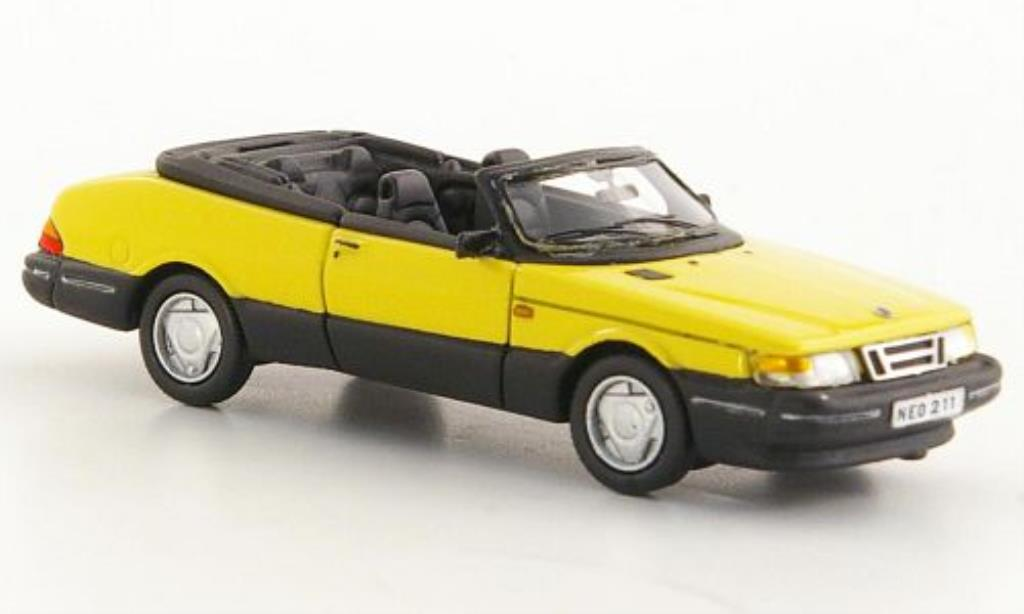 Saab 900 1/87 Neo Cabriolet jaune 1987 miniature