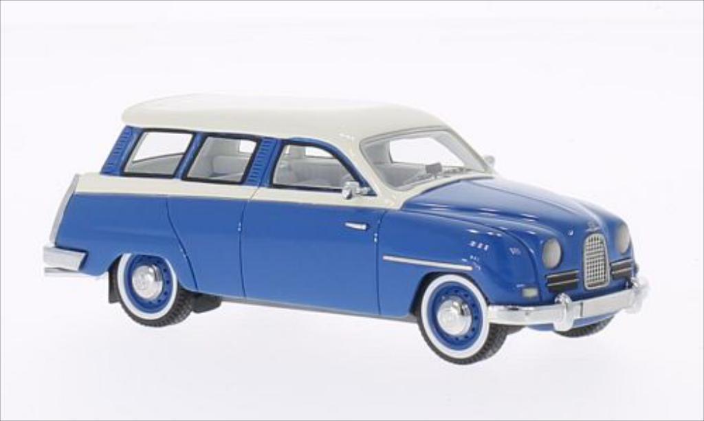 Saab 95 1/43 Neo bleu/blanche 18 miniature