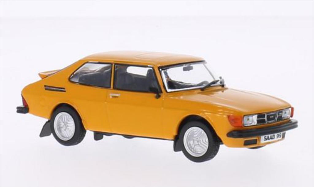 Saab 99 Turbo 1/43 WhiteBox Combi Coupe orange 1977 miniature