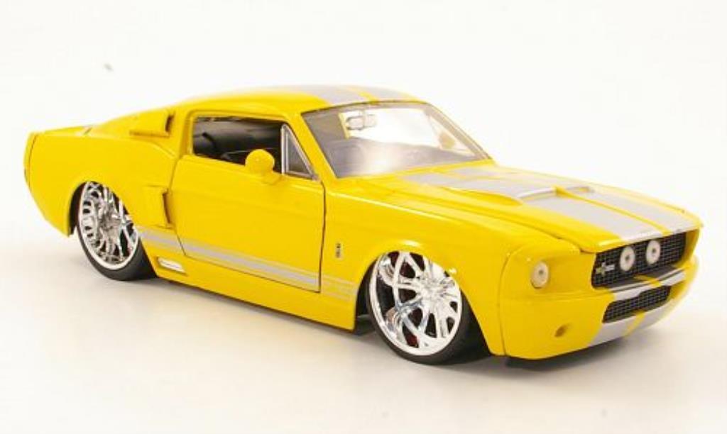 Shelby GT 500 1/24 Jada Toys Toys jaune/grise 1967 miniature
