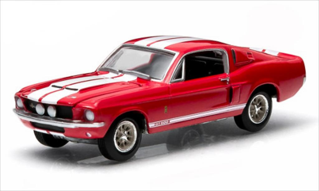 Shelby GT 500 1/64 Greenlight rouge 1967 miniature