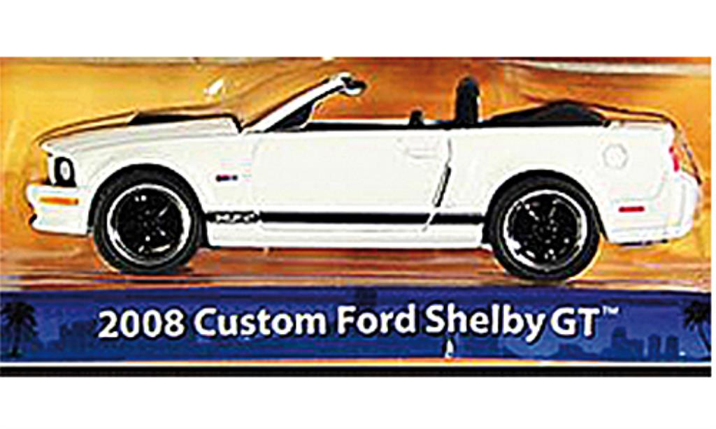 Shelby GT 1/64 Greenlight Convertible blanche/matt-noire 2008 miniature