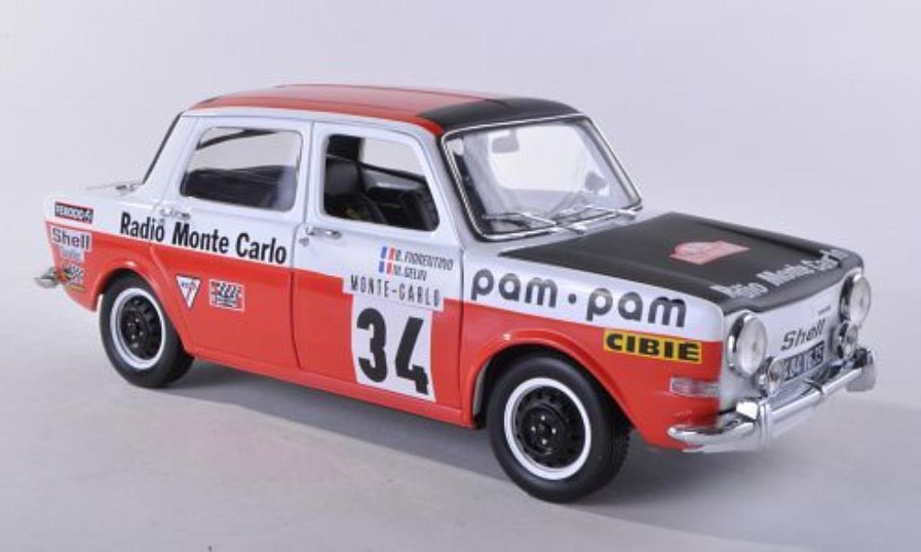 Simca 1000 1/18 Norev Rallye 2 No.34 Radio Monte Carlo Rally Monte Carlo 1973 /Gelin diecast