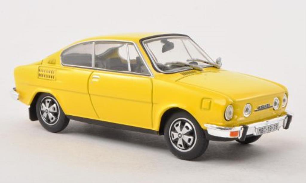 Skoda 110 1/43 Abrex R yellow diecast