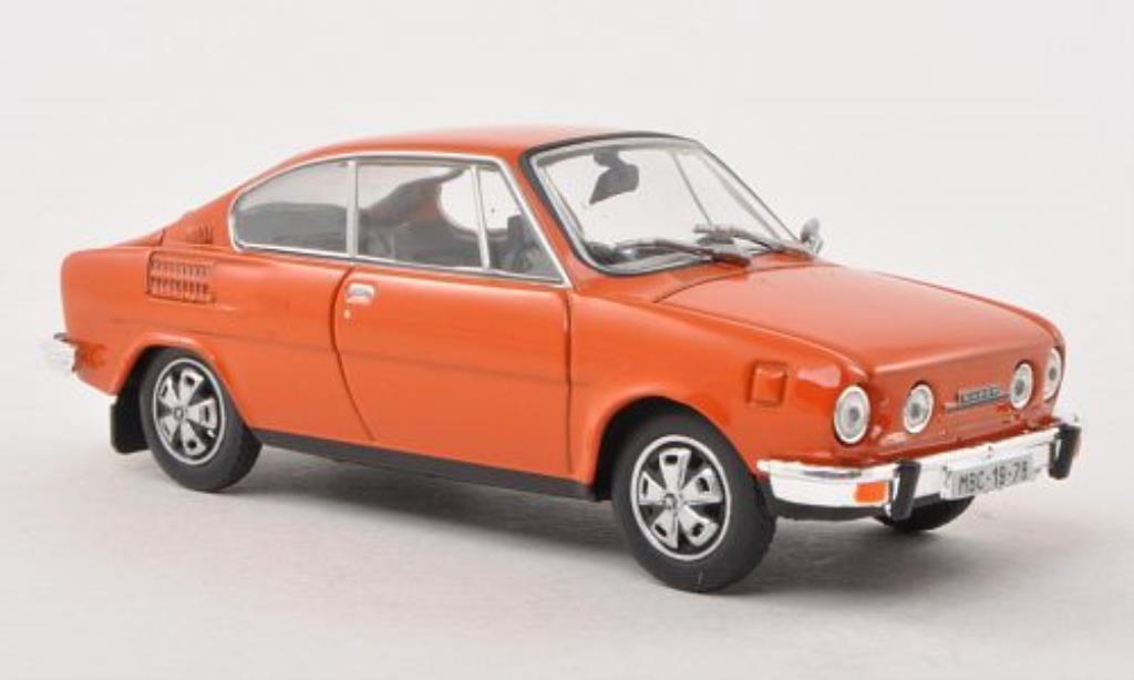 Skoda 110 1/43 Abrex R orange miniature