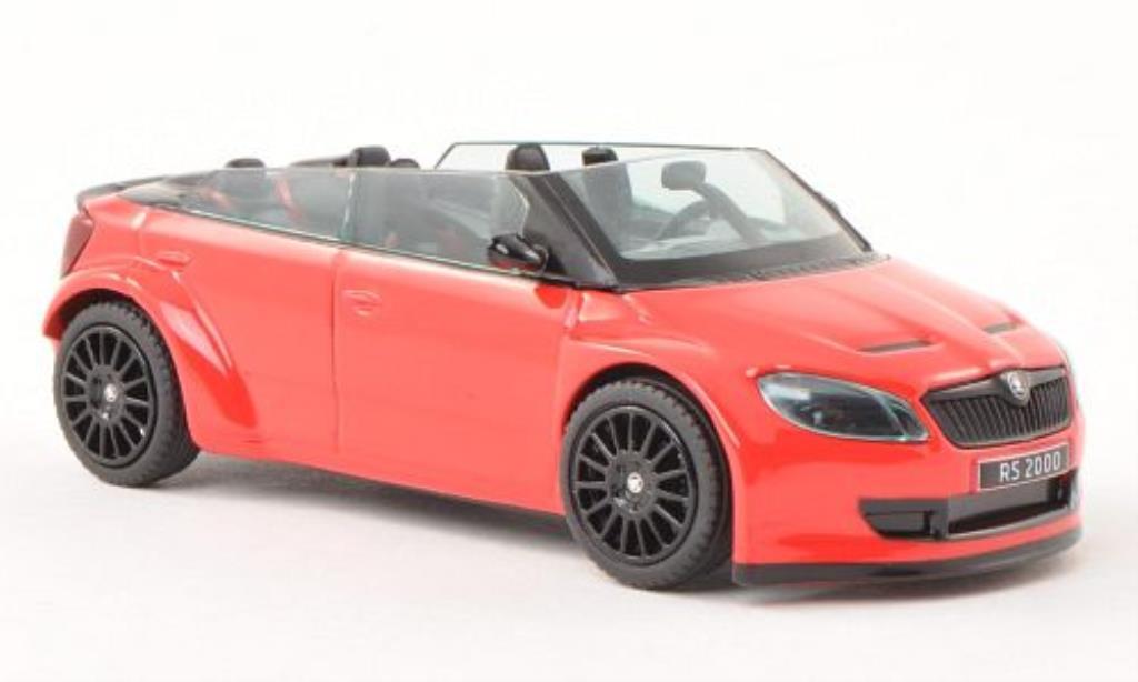 Skoda Fabia 1/43 Abrex 2000 Concept Car rouge mit noireen Felgen miniature